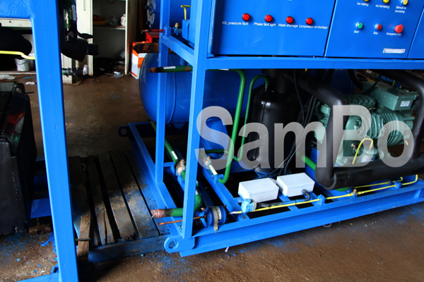 2016 Newest Design Sambo 1Ton per day tube ice machine for Fishing and Concrete Cooling