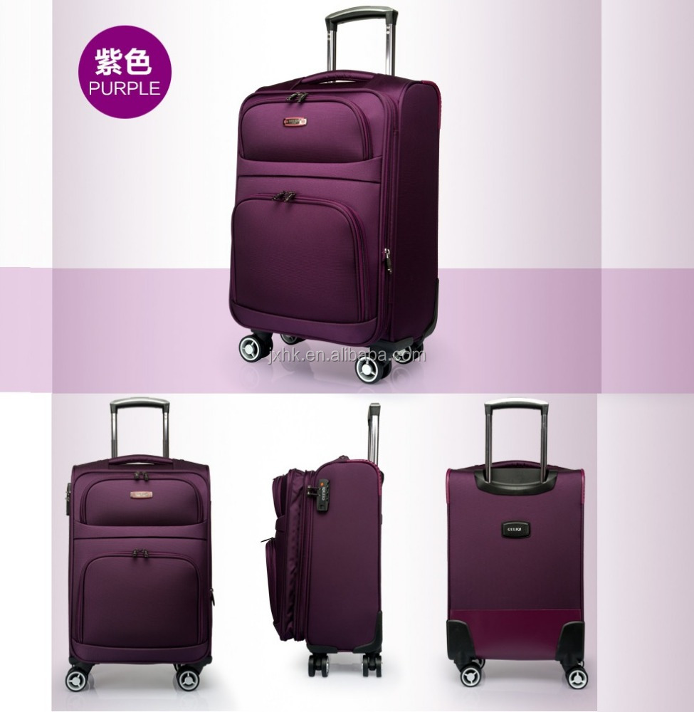 fabric cloth material decent travel boarding luggage bags