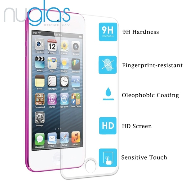Professtional smart touch tempered glass screen protector for iPod touch 5/6