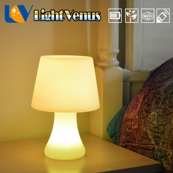 New Classic LED table lamp design cordless bar table lamps rechargeable battery with USB port