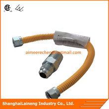 extensible stainless steel flexible corrugated hose M / F for gas