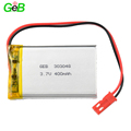 2018 hot sale rechargeable battery 303048 lipo battery 3.7v 400mah