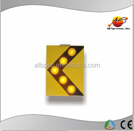 solar arrow direction sign for working zone temperary signage or AC powered