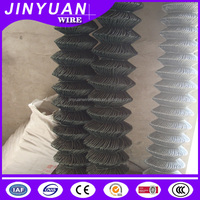 Plastic chain link fence/PVC coated chain link fence/decorative chain link fence from Dingzhou Jinyuan