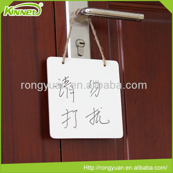 Small square frameless remind non-magnetic white board
