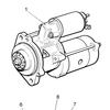Replacement Lister Petter DWS 33KVA Stand by Generator set Starter motor 624-21231 624-21230 62421231 62421230 for LLD410 MLPS3