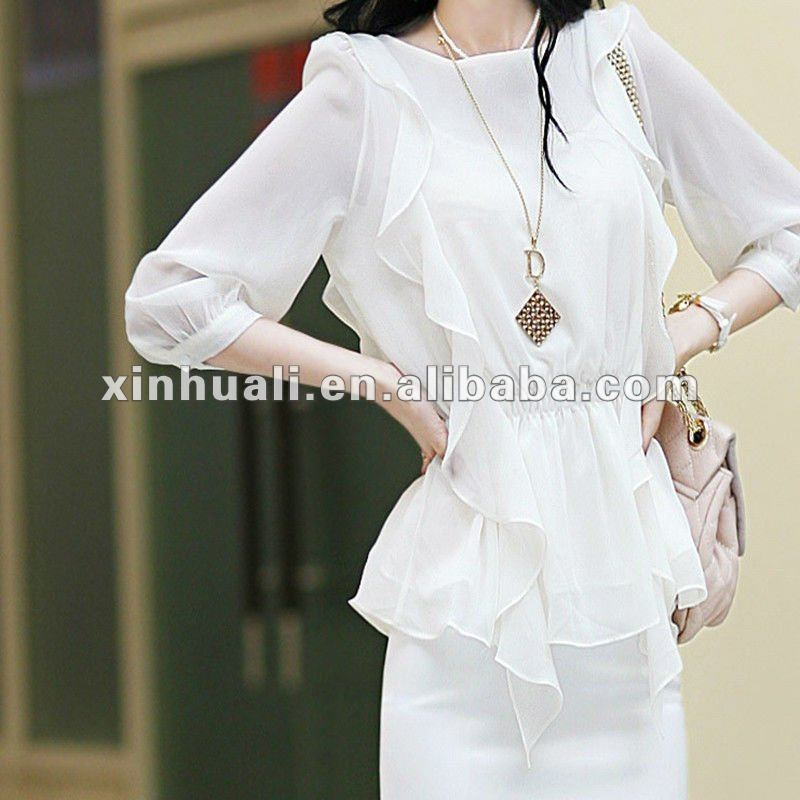Pure White Silk-like Chiffon Fabric for Dress
