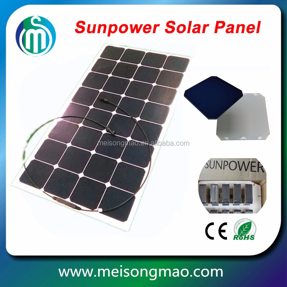 Price per watt flexible solar panel 100W home solar system