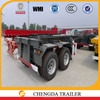 2 axle 20ft container Skeleton semi trailer special for 20ft container transportation