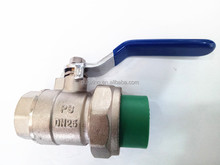"1/2""male and single union brass ball vale, ppr brass ball valve"