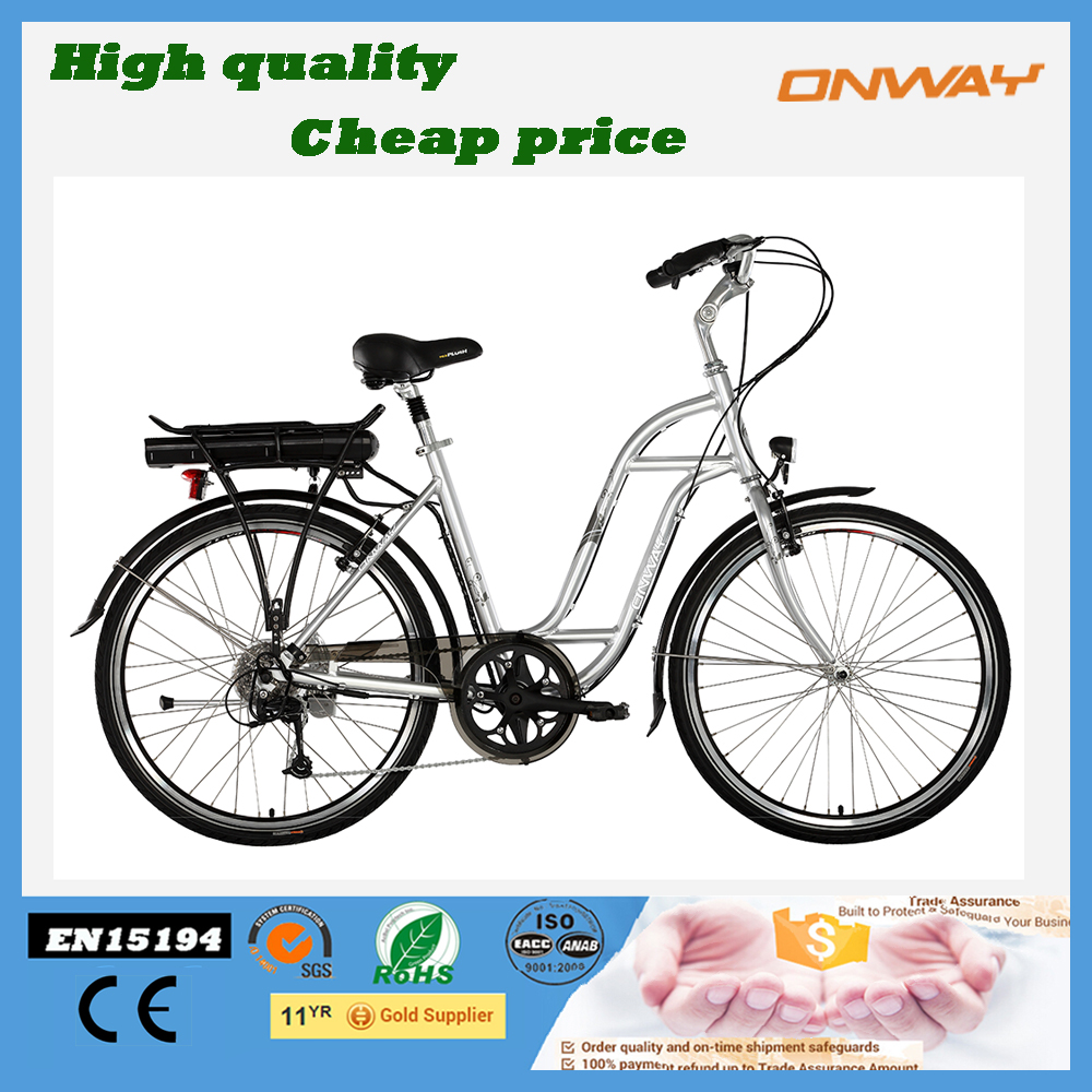 Cheap motorized battery powered cruiser electric bicycle