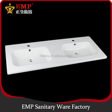 China ceramic sanitaryware double wash basin bathroom lavabo basin