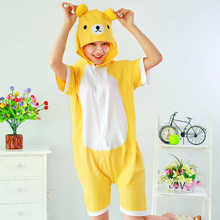 Plus size Summer Pyjamas Short Sleeves Custom Hooded Cheap Couple Sexy Adult Animal Onesie