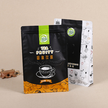 Custom printing side gusset stand up solid beverage powder packaging bag with zipper