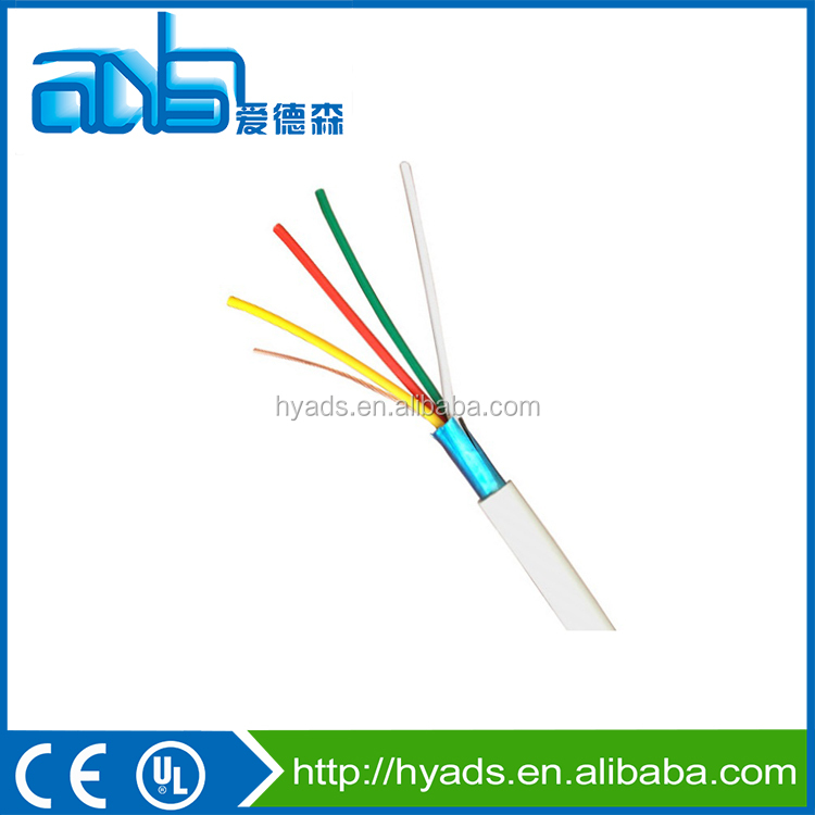 18 AWG 4 cores shielded security alarm cable with earth wire