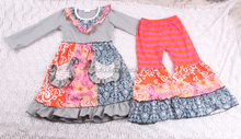 Forever 21 Wholesale Clothing Suppliers For Boutiques Solid Cotton Floral Dress And Casual Ruffle Pant Kids Wholesale Clothing
