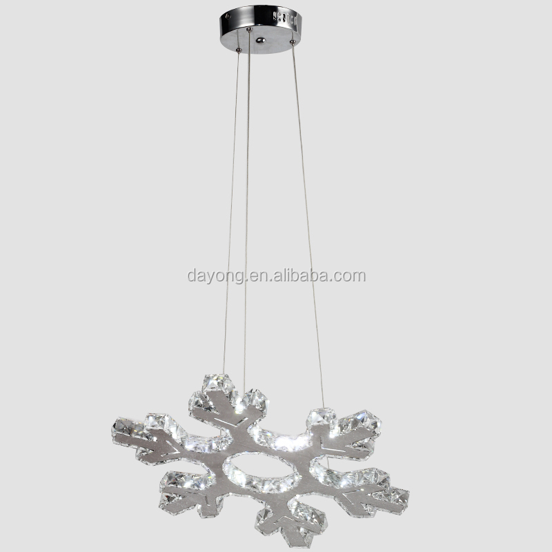 Silver Snowflake Led Decorative Pendant Lighting