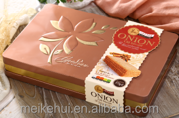 575g Gift Box Packaging Onion Oil Biscuits Crisp Cracker