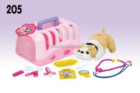 Hualian Pretend Play & Preschool Pet Toy House,Carriers With Medical Toy Tool
