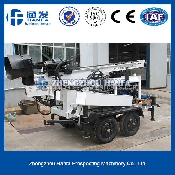 Rock expert ! durable and popular in Africa , HF410 T water well drilling machine !