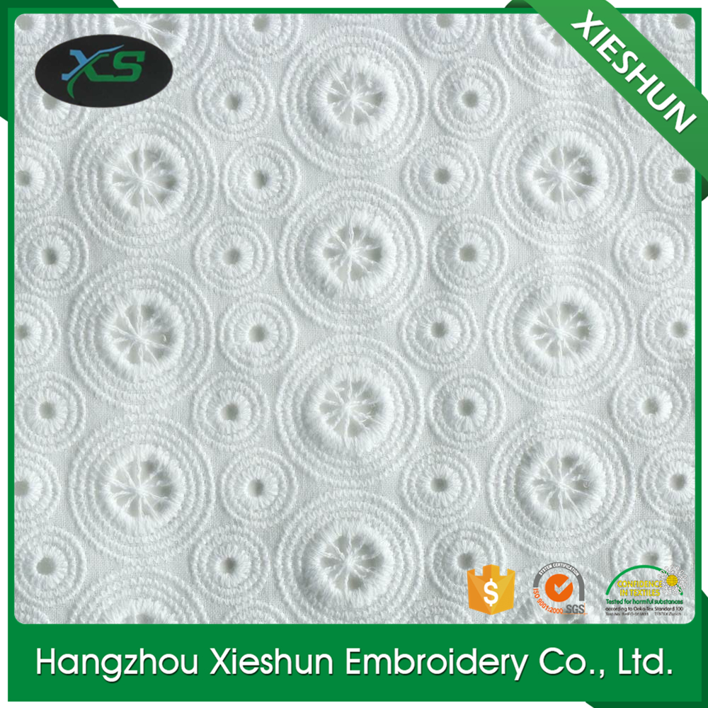 Japanese high quality embroidery cotton fabric with hole
