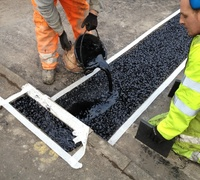 Asphaltic and rubber Concrete expansion joint filler material