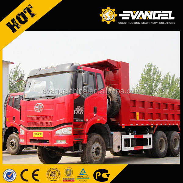EURO 2 3 4 350hp 261KW left right hand china faw ca3250 6x4 dump truck for sale