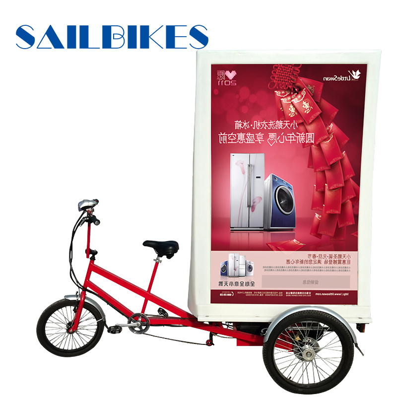 Led Lights Electric Advertising Bike Tricycle For Sale
