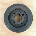China customized cast iron v belt pulleys with solid hub sand casting sheave
