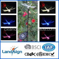 55cm height easy operation solar holiday light,/solar decorative dragonfly stick light
