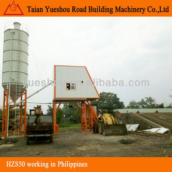 Concrete Mixing Plant 50m3/h working in Philippines