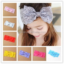 Baby Hair Accessories Headbands With Bow For Girls Lace Headband Hot Sale