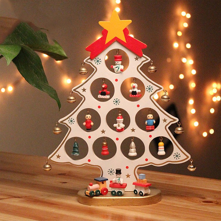 wholesale new design 20*27cm christmas tree mini wood artificial christmas tree