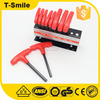 High quality rubber handle Allen T model square hex wrench