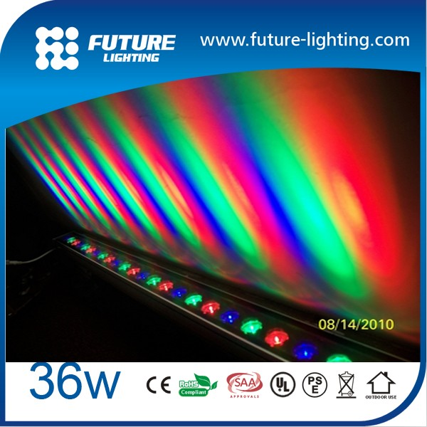 High Power DMX Control IP65 36W Full Color RGB DMX512 36W led outdoor wall washer light
