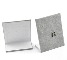 High Quality 1PC Gray Velvet Earrings Jewelry Display Stand