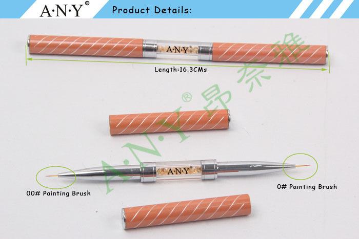 ANY Nail Art Beauty Design Crystal Pure Kolinsky Nail Brushes Nails ...