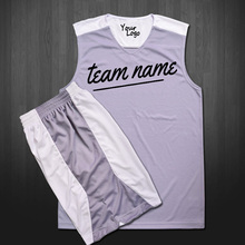 Sublimation printing basketball uniform , reversible basketball jersey, wholesales polyester basketball jersey