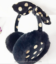 cute lady earmuff with two ears