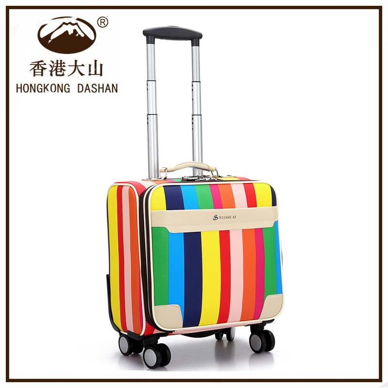 "AVT1562 Customize school bag children luggage bag trolley case 16"" boarding case travel suitcase"