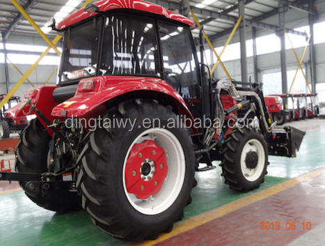 Hotsell manufacturer high quality 100hp tractor 4wd with front loader and backhoe