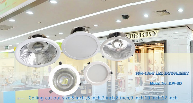 Anti-glare 6 inch 8 inch 10 inch 150w Round Deep Recessed Downlight Led