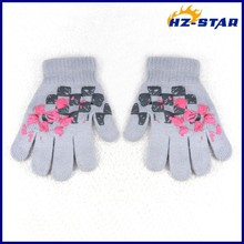HZS-13239006 new design fashion baby boy print warm magic hand softening cute resistant baseball name brand winter gloves