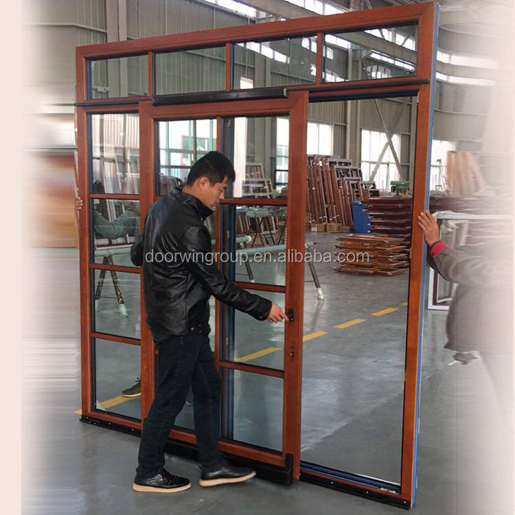Wooden Safety Glass Door Design With Grill 2 Way Swing Tilt Sliding