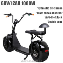 2016 hot halley best adults 2 person electric scooter powerful electric bike 1000w60v12ah
