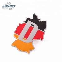 Non-toxic Germany map car body side sticker design