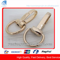 CD7961 Custom Gold Metal Snap Hook Buckle with Ring for Bags