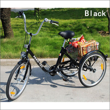Popular electric cheap adult tricycle motorcycle FT-7009 black color