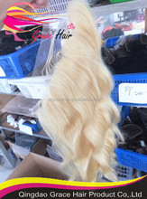 Factory high quality color #613 body wave human hair lace frontal closure piece