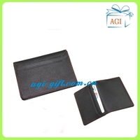 soft leather name card credit card case